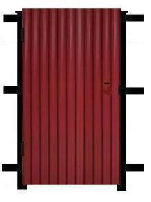 Калитка из профнастила стандартная, Установка ворот
