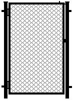 Калитка из сетки рабица стандартная, Установка калиток