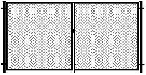 Ворота из сетки рабица стандартные, Установка ворот